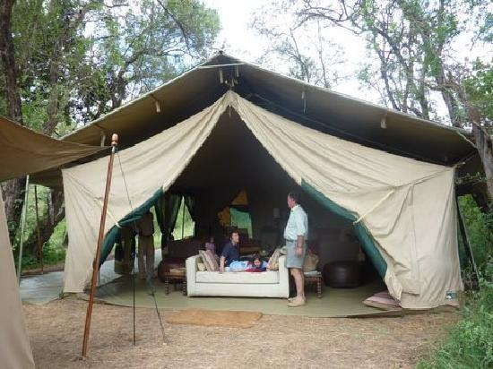 Nairobi Tented Camp: The sitting room tent