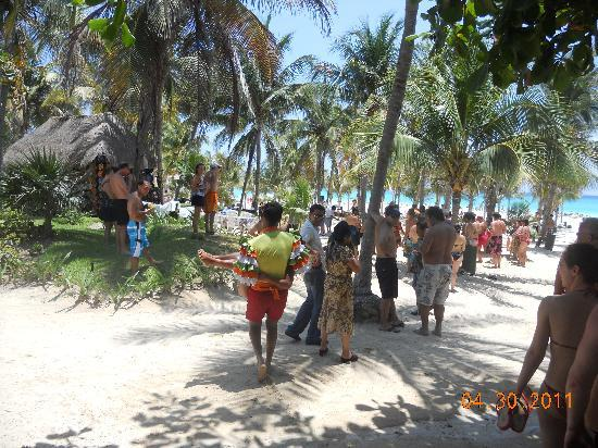 Hotel Riu Playacar: fiesta de playa