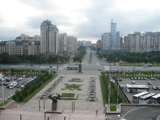 Park Inn by Radisson Pribaltiyskaya St Petersburg: View from the hotel towards St Petersburg