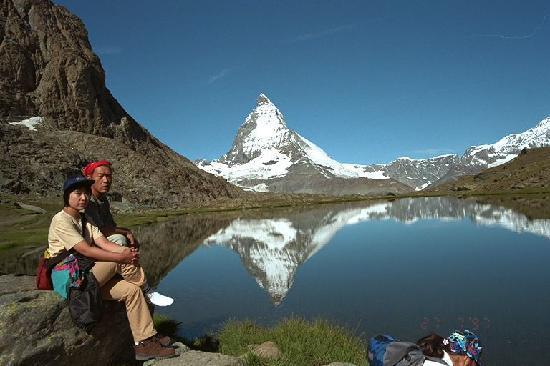 Zermatt, Switzerland: 逆さマッターホルン