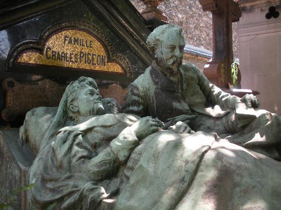 Cimetière du Montparnasse : famille pigeon