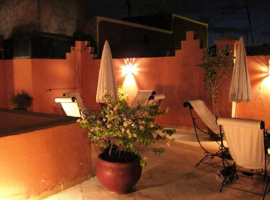 Riad Nerja: the roof terrace