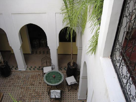 Riad Nerja: view down from the roof