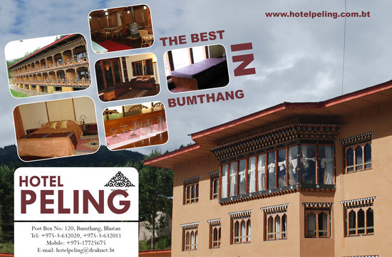 Bumthang, ภูฏาน: hotel peling in 2008