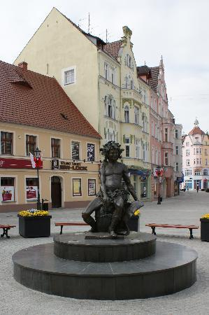 Zielona Gora, Poland: bachus the god of wine