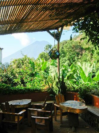 San Marcos La Laguna, Гватемала: Restaurant- favorite place to eat in San Marcos