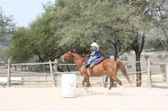 Rancho Cortez: Seven year old barrel racing