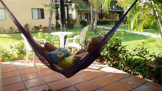 Allegro Playacar: Hammock on our front patio