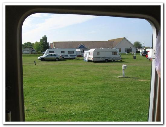 Walton-on-the-Naze, UK: club house viewed from my caravan