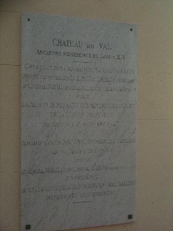 Le Château Du Val : History