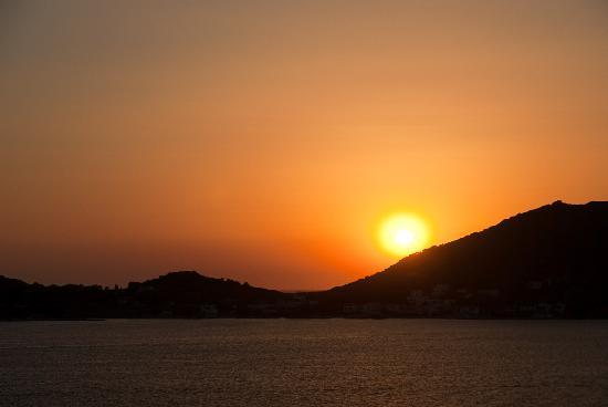 Massouri, Greece: Sunset over Telendos