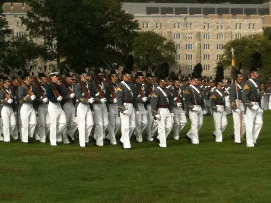 West Point, Estado de Nueva York: Parade Oct 2010. football weekend