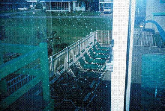 Kure Beach, NC: Pool through window