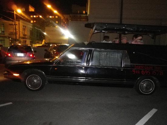 Hearse Ghost Tours: Our hearse!