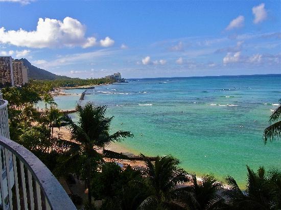 Moana Surfrider, A Westin Resort & Spa, Waikiki Beach: ダイアモンドウィングからの眺め