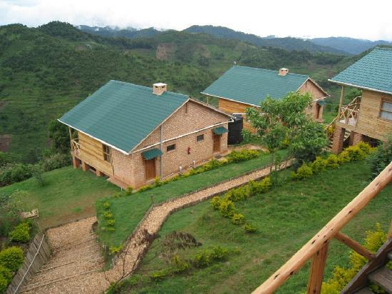 Ruhija Gorilla Safari Lodge: Our Cottage - the left hand half of the one on the left