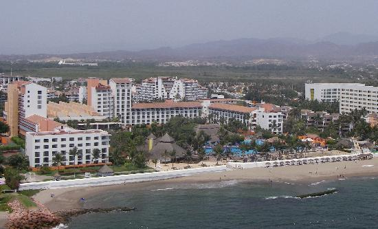 Melia Puerto Vallarta All Inclusive: This is a view of the resort from the air. Tower 1 is on the far left side.