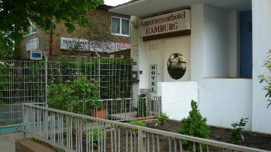 Appartementhotel Hamburg: Hoteleingang Vorderseite