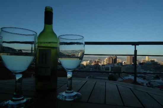 Upperbloem: welcomedrink at the balcony