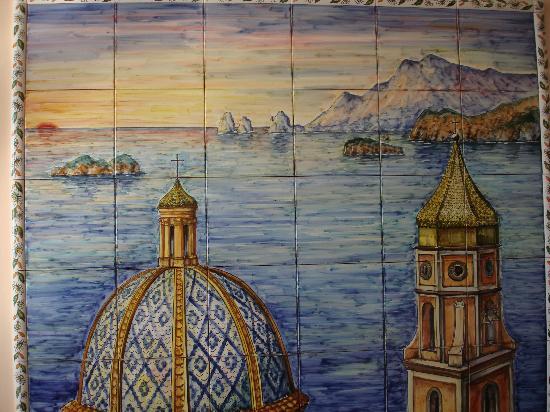 Hotel Margherita: ..il mosaico di piastrelle all'entrata