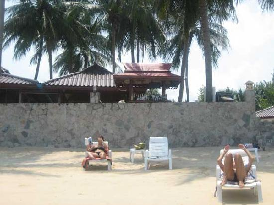 Phangan Cabana Resort: plage