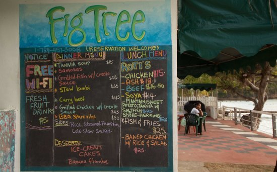 The Fig Tree: Prices are in EC$