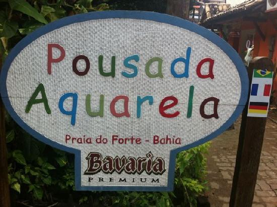 Pousada Aquarela : Vor dem Eingang