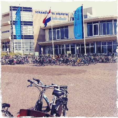 Vlieland-øen, Holland: het enige vervoermiddel toegestaan