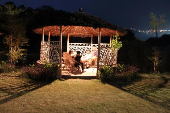 Dehradun, India: The resort at night (don't miss the Mussoorie lights in the background)