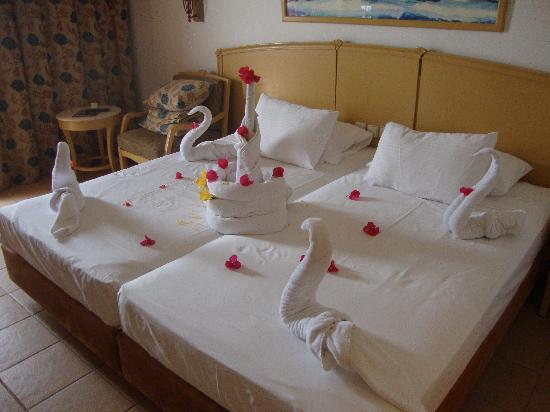 Concorde El Salam Hotel: My amazing towel display with fresh petals!!