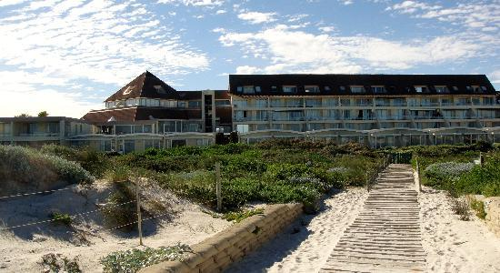 Dolphin Beach Hotel: Hotel seen from the beach