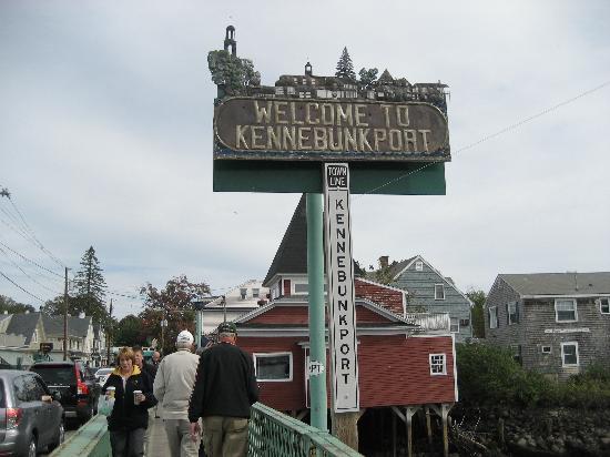 Kennebunkport, ME: Nettes Willkommenschild