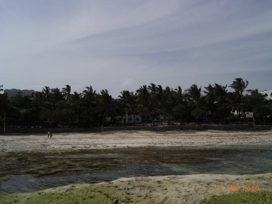 Kaskazi Beach Hotel: Hotelanlage vom Meer aus