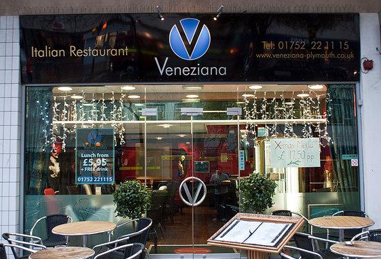 Outside Veneziana Italian Restaurant
