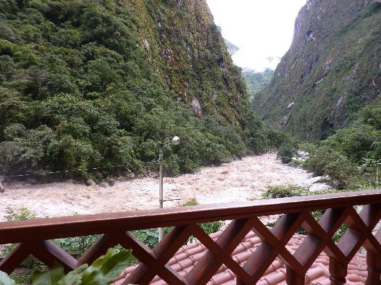 Aguas Calientes, Peru: View from my balcony at El Santurio Hotel
