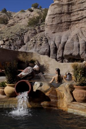 One of ten mineral pools at Ojo Caliente Mineral Springs