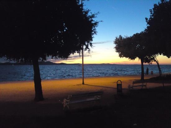 Nin, Kroatien: zadar bij zonsondergang