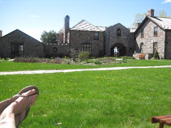 Ste. Anne's Spa : view of main building from my chair in the sun