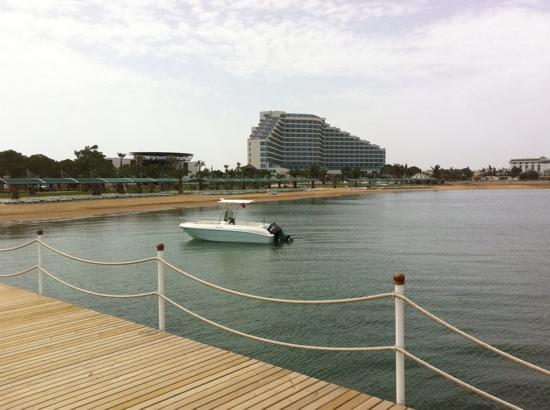 Venosa Beach Resort & Spa: view from water sports jetty back to hotel