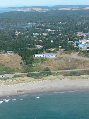 Port Orford, OR : The Castaway seen from above.