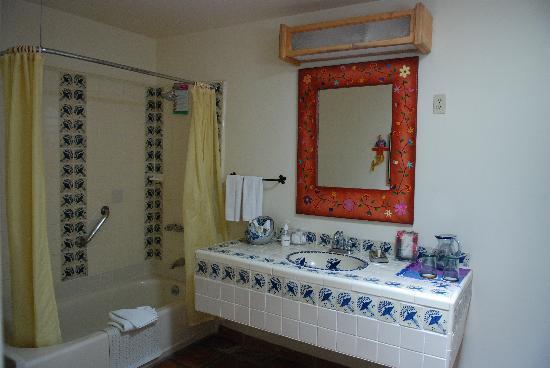 Tecate, México: A typical bathroom