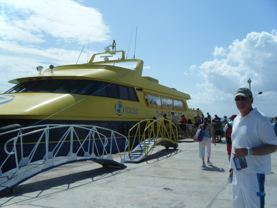 Cozumel Reef Snorkeling and Sailing Adventure: Ferry boat