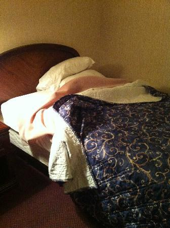 When we checked into the room, this was one of the beds.
