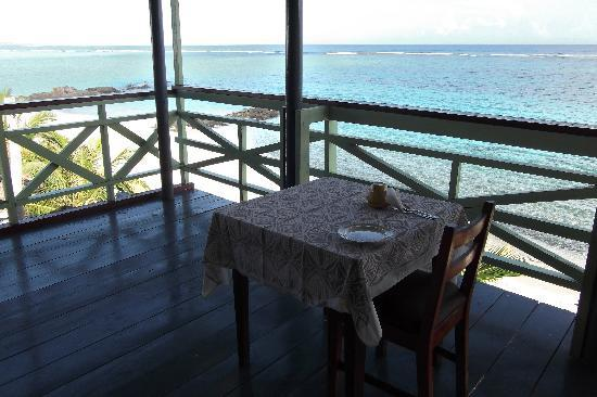 Savai'i, Samoa: table set for breakfast