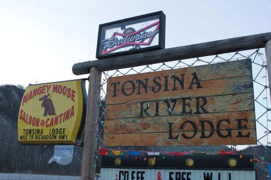 "Tonsina River Lodge Restaurant: ""Rustic"" sign at the wonder Tonsina River Lodge"