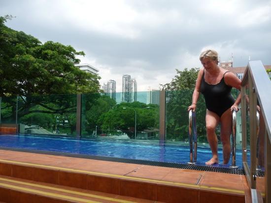 Hotel Nostalgia: swnimming pool on 3rd floor