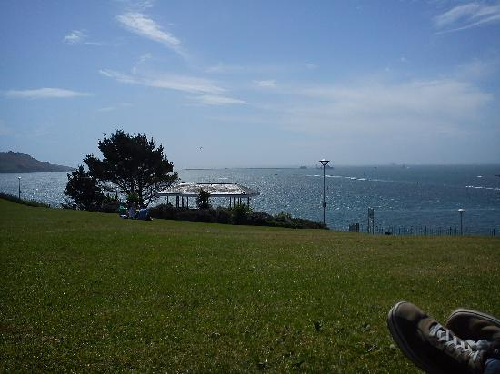 View from Hoe Park (a few minutes walk away from Rainbow Lodge)