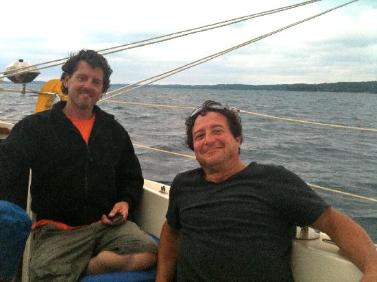 Two Brothers Sailing : My Husband Right, Capt. Jake Left