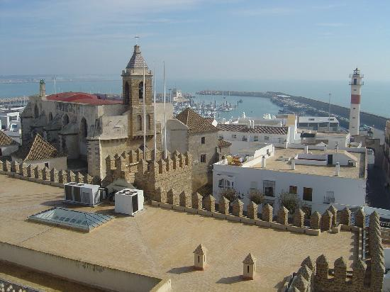 Rota, Spanien: Vista casco histórico de día