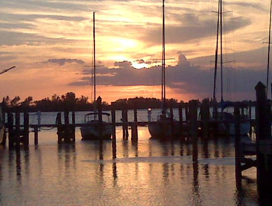 Sunset at Royal Palm Marina - Picture of Zeke's Bayside ...